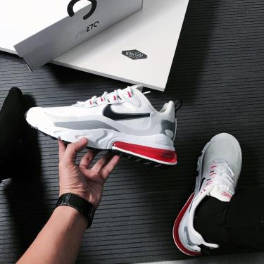 Giày Nike Air Max 270 React 'White Crimson Black' [CT1280 100]