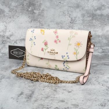Hàng Chính Hãng Túi Coach Parker White Flower Print 2021**