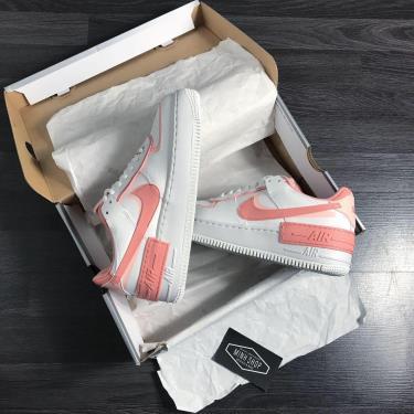 Hàng Chính Hãng Nike Air Force 1 Shadow White Coral Pink 2020 **BEST SELLER**