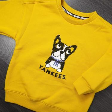Hàng Chính Hãng Áo Sweater  MLB Yankees Yellow    ''KID''   **2020**