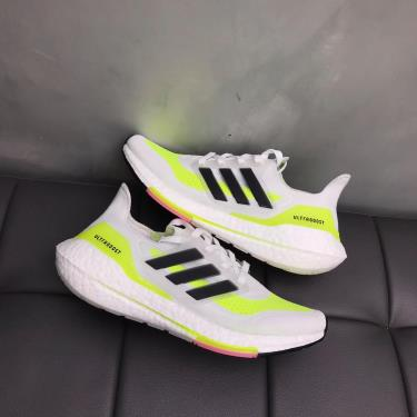 Hàng Chính Hãng Adidas Ultra Boost 21 White/Neon 2021**