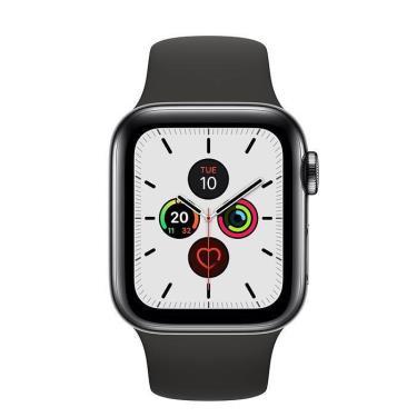 Hàng Chính Hãng Apple Watch Series 5 Space Black Stainless Steel Case  Black Sport Band **2020**