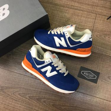 Hàng Chính Hãng NewBalance 574 Blue/Orange 2020**