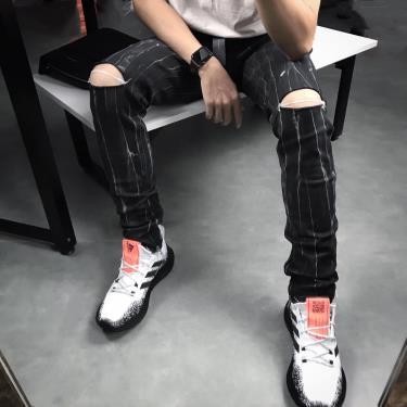 Hàng Chính Hãng Quần Jeans Pacsun Ripped Zip  Black Grey  2020***