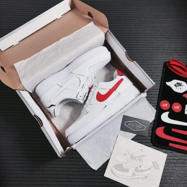 Giày Nike  Urban Necessities Air Force 1/1 GS 'Cosmic Clay' White**