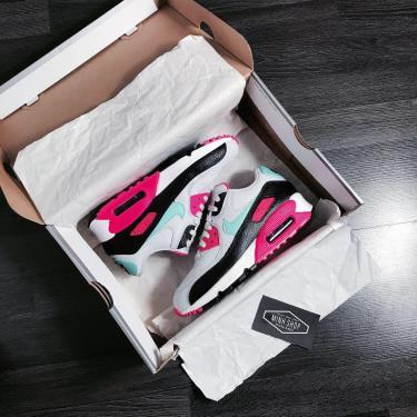 Hàng Chính Hãng Nike Air Max 90 South Beach Pink Teal 2020**