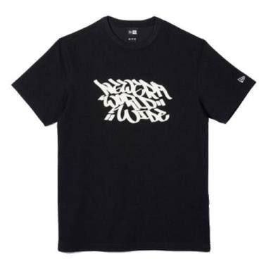 Hàng Chính Hãng Áo Thun New Era Graffiti World Wide Seoul Black/White 2020**