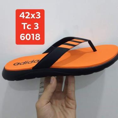 Hàng Chính Hãng Dép Adidas Flip-Flops Black/Orange 2019**