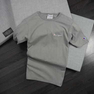Hàng Chính Hãng Áo Thun Champion  Embroidered Script  Logo Iron gray 2020**