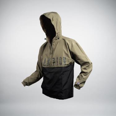 Hàng Chính Hãng Áo Khoác Champion Colorblock Packable Jacket  Block Logo Green/Black 2021**