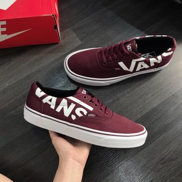 Hàng Chính Hãng Vans Sneaker Burgundy/LOGO White 2020**