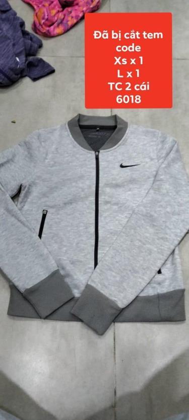 Hàng Chính Hãng Áo Khoác Jacket Nike Light Grey **2021**