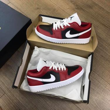 Giày Nike Jordan 1 Low Black/Red ** [DC0774-603]