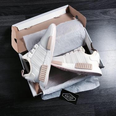 Hàng Chính Hãng Adidas NMD R1 White/Light Brown **2020**
