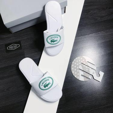 Hàng Chính Hãng Dép Lacoste Slide White/Green  2020**