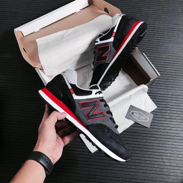 Hàng Chính Hãng NewBalance 574 Black/Grey/red 2021**