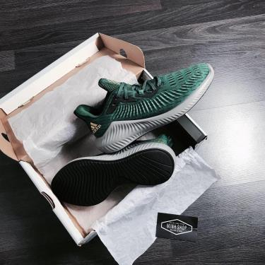 -HOT- Hàng Chính Hãng Adidas Alphabounce Plus Dark Green 2020**
