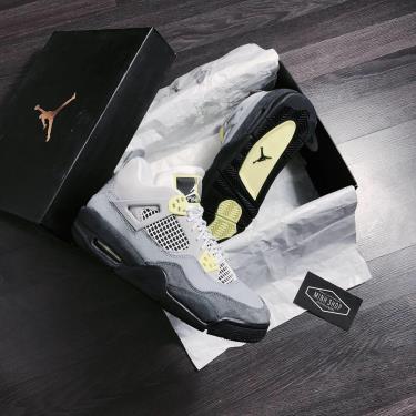 FLASH DEAL 70 % Hàng Chính Hãng Nike Air Jordan 4 Grey Neon 2020**