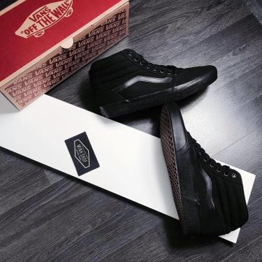 Hàng Chính Hãng Vans Sneaker High All Black 2019**