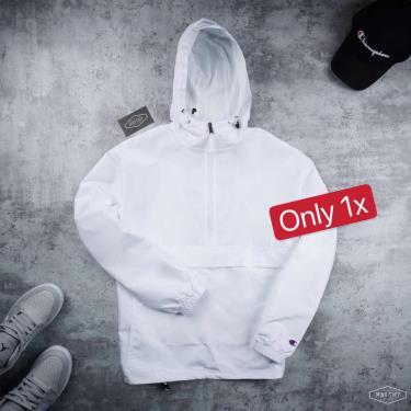 65% SALE Hàng Chính Hãng Áo Khoác Champion Packable Jacket Triple White Basic  2021** [CB1015 000]