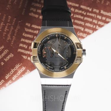 Hàng Chính Hãng Maserati Potenza Gold Silver Black  Watch 2021** NEW