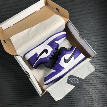 """Hàng Chính Hãng Nike Air Jordan 1 Low """"Court Purple"""" GS  2021**"""