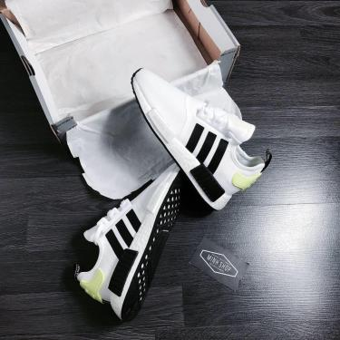 Hàng Chính Hãng Adidas NMD R1  'White Black Signal Green' 2020**