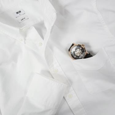 Hàng Chính Hãng Áo Sơ Mi Uniqlo Long -Sleeve White  2020**