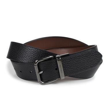 Hàng Chính Hãng Leather Belt Coach Black/Oxblood  2020**