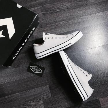Hàng Chính Hãng Converse Chuck Taylor All Star Leather Slip Mouse/White/Black 2020**
