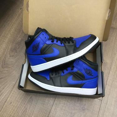 Hàng Chính Hãng Nike Jordan 1 Mid Hyper Royal 2021**