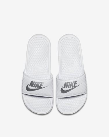 Hàng Chính Hãng Dép Nike Benassi JDI White/Siliver 2020** XXX