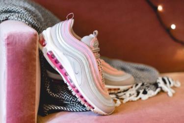Hàng Chính Hãng Nike Air Max 97 Grey/Pink 2021**