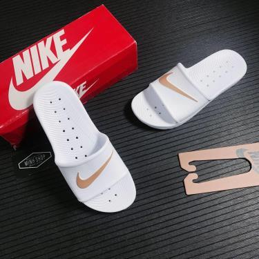 Hàng Chính Hãng Nike Kawa Shower White/Gold 2021**