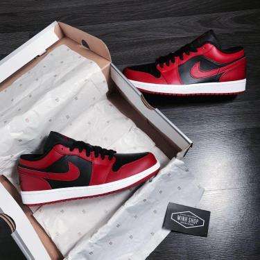 Hàng Chính Hãng Nike Air Jordan 1 Low 'Reverse Bred' 2021** V [O]