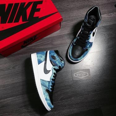 Hàng Chính Hãng  Nike Air Jordan 1 Retro High Tie Dye 2021** V