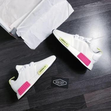Hàng Chính Hãng Adidas NMD R1 White/Pink/Neon2019**