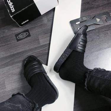 50% Hàng Chính Hãng Dép Adidas Adilette Boost Slides All Black  2020**