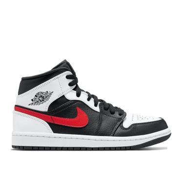 💲Best Seller💲 sale~30% 24G Giày Nike Jordan 1 Mid  Black Chile Red White [O] ** [554724 075]
