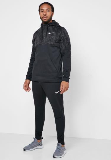 Áo Hoodie Nike Therma AOP Black ** [BV3871]
