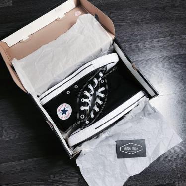 sale~~ BEST BASIC Giày Converse Chuck Taylor All Star Hi Top Optical Black  Canvas- ÁP DỤNG CK **  [W9160]