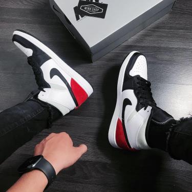 Nike Air Jordan 1 Mid Union Black Toe * 852542 100