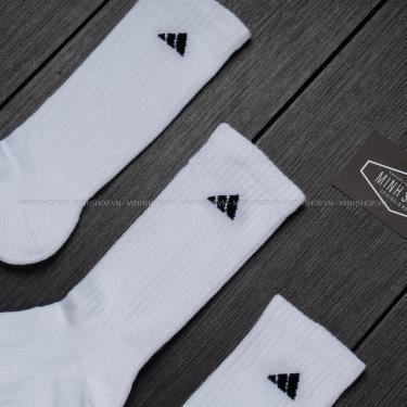 Vớ Adidas White/Black  2021** (Pack 3 đôi  )
