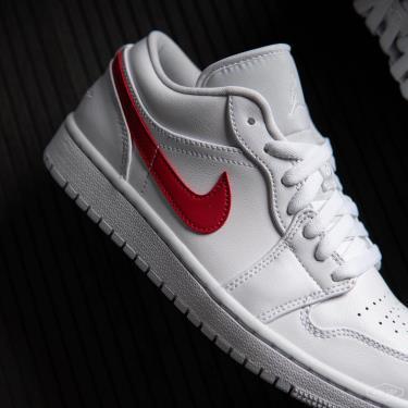 Giày Nike Air Jordan 1 Low White University Red [O] ** [AO9944 161]
