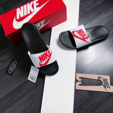 """Hàng Chính Hãng Dép Nike Benassi JDI Print """" Black / Bright Crimson """" 2020**"""