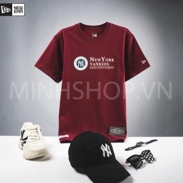Hàng Chính Hãng Áo Thun New Era x MLB New York Yankees University Burgundy 2020**
