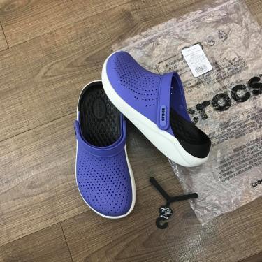 Hàng Chính Hãng  Dép Crocs Literide Light Purple/Black/White 2020**