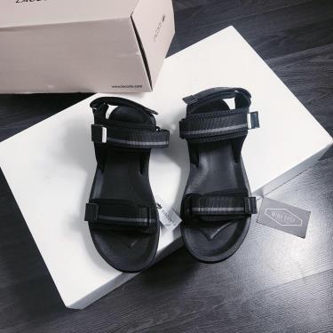 Hàng Chính Hãng Sandals Lacoste Black/Grey 2020**