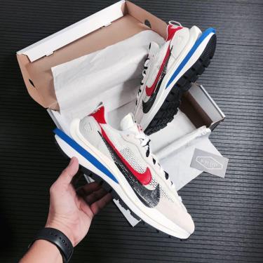 Hàng Chính Hãng Nike Ldwaffle x Sacai Cream White/Blue/red 2021** V