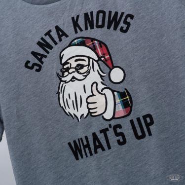Hàng Chính Hãng Áo Thun Old Navy Christmas Santa Knows Grey 2021**